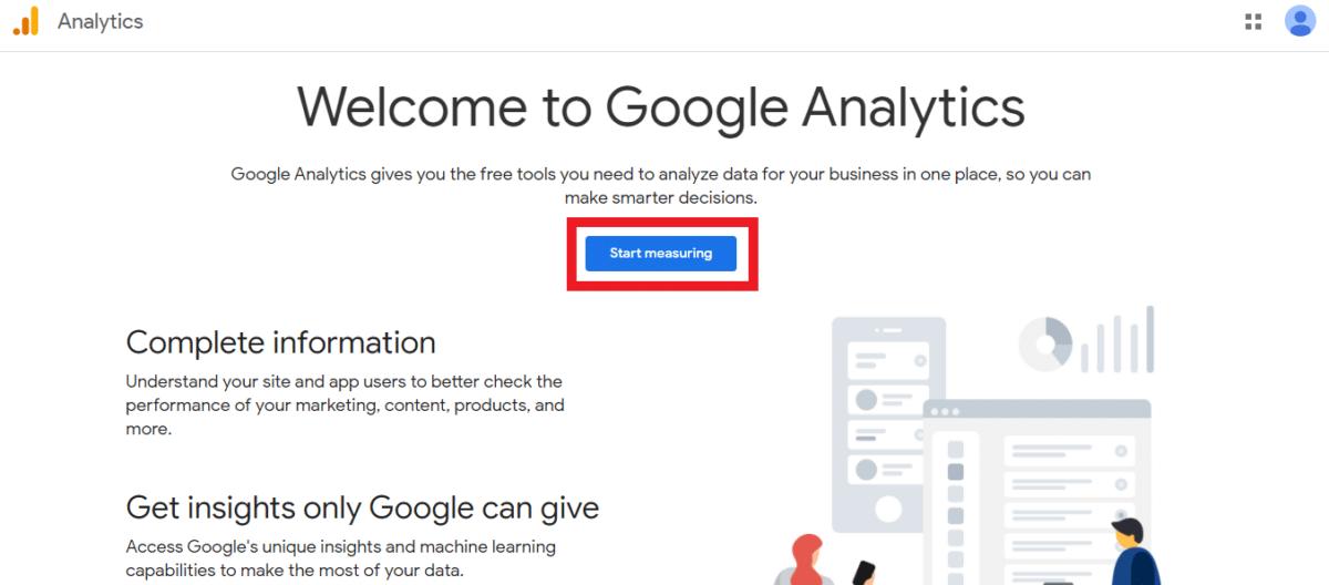 "Screen shot of Google Analytics ""Welcome to Google Analytics"" page"