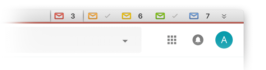 Screenshot of Kiwi screen showing how a user can add multiple email accounts to the app