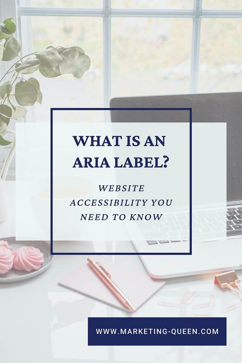 Pin Graphic to bookmark this blog post - What is an ARIA label?