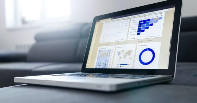Google Analytics Dashboard on a Laptop Screen